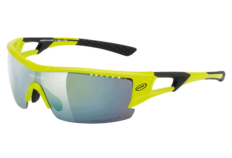 Paire de lunettes northwave tour pro jaune fluo noir for Miroir hd pro