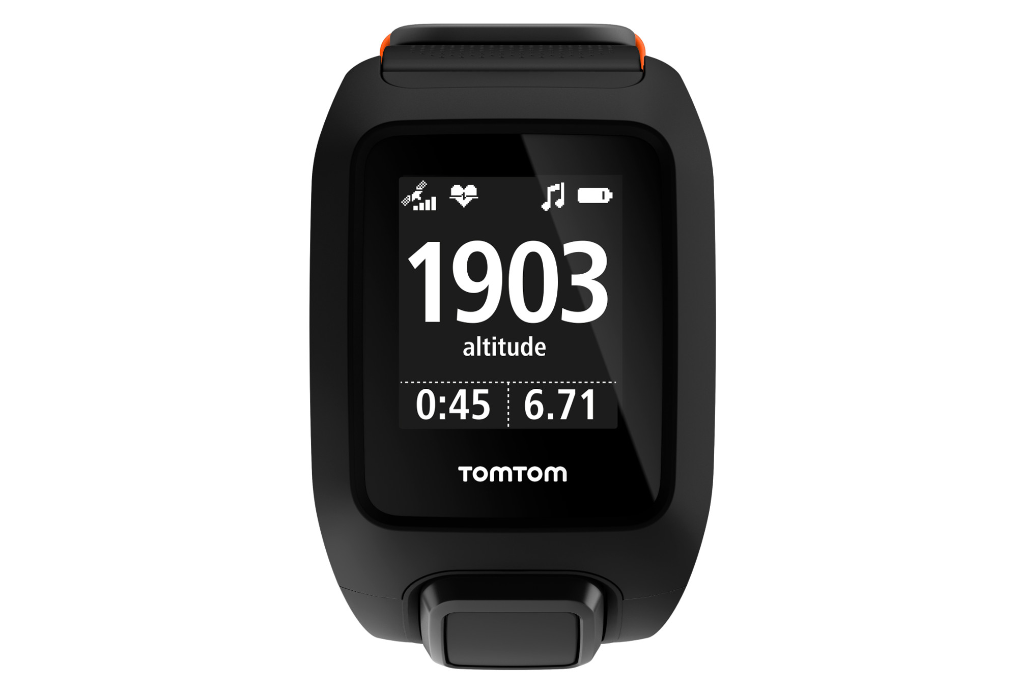 montre gps tomtom adventurer cardio music bracelet large noir. Black Bedroom Furniture Sets. Home Design Ideas