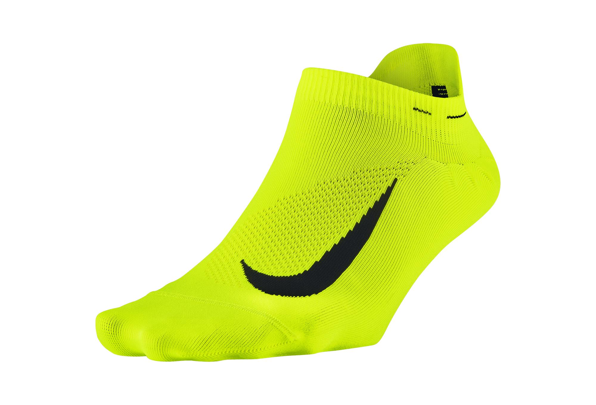 Paire De Chaussettes Nike Elite Lightweight Jaune Fluo