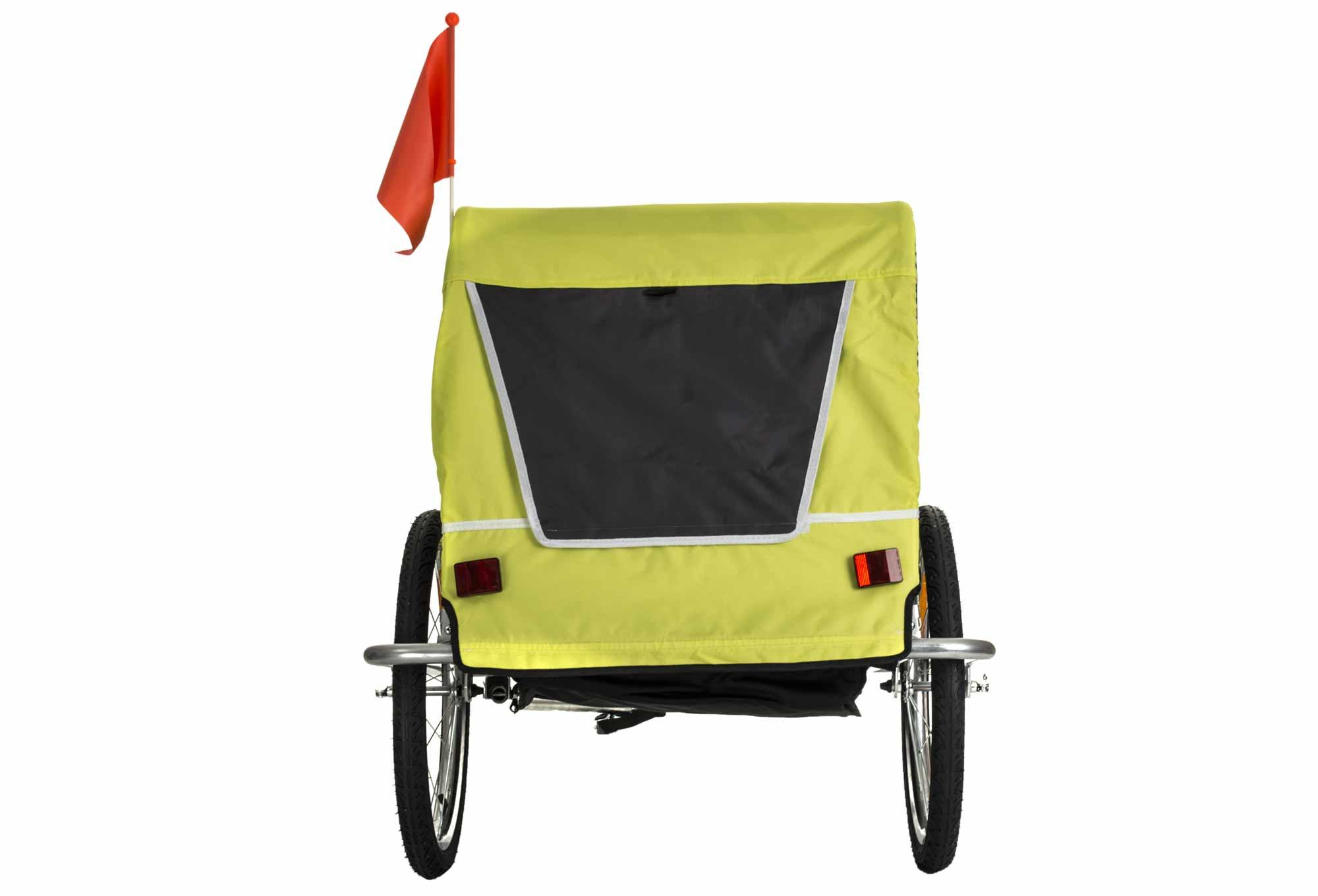 remorque v lo enfant gnk 2 places jaune. Black Bedroom Furniture Sets. Home Design Ideas