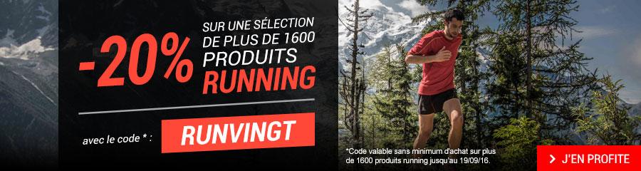 -20% sur une sélection de plus de 1600 produits running