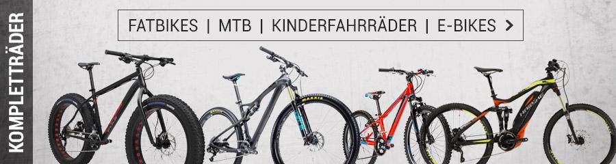 Fatbikes, MTB, Kinderräder, E-Bikes
