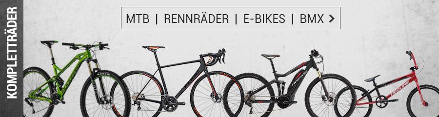 MTB, Fatbikes, Kinderräder, E-Bikes