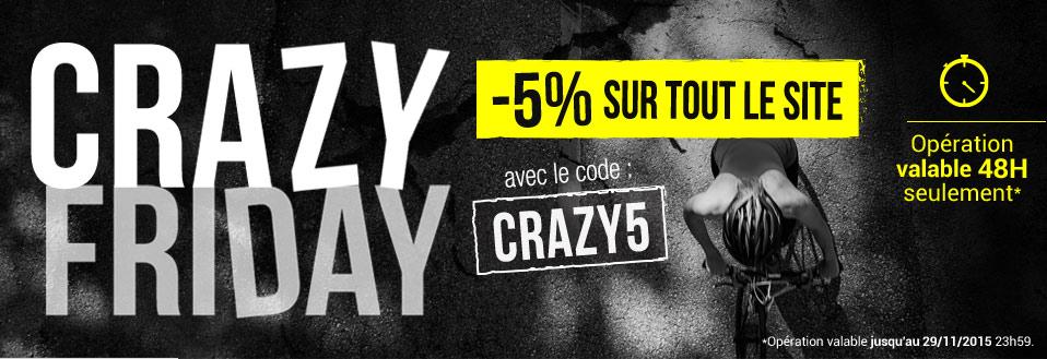 Black Friday : -5% sur tout le site