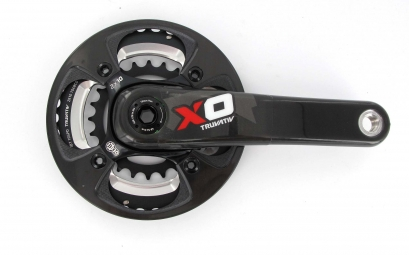 SRAM Pédalier X0 2.2 Rouge Bash Carbone 24/38 175 mm 10V sans Boitier BB30