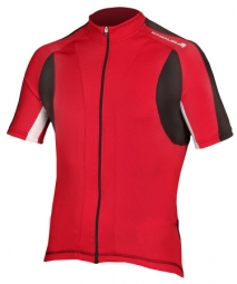 ENDURA Maillot Zip long FS260 PRO II JERSEY Rouge