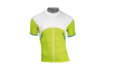 NORTHWAVE Maillot BLADE Manches Courtes Zipé Lime Blanc