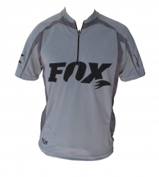 FOX RACING SHOX Maillot XC RACE STRIA Manches Courtes Gris