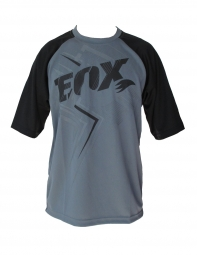 FOX Maillot RIDE STRIA Manches Courtes Gris