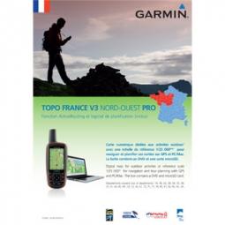 GARMIN TOPO France NORD-OUEST V3 DVD + Carte Micro SD pré chargée