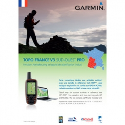 GARMIN TOPO France SUD-OUEST V3 DVD + Carte Micro SD pré chargée