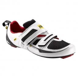 MAVIC Paire de Chaussures Triathlon TRI RACE Blanc Noir Rouge