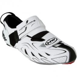 NORTHWAVE Paire de Chaussures Triathlon TRIBUTE Blanc Noir