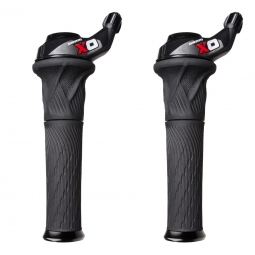 SRAM Paire de Grip Shift X0 3 x 10V Rouge
