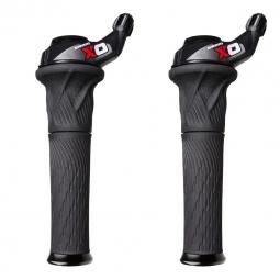 SRAM Paire de Grip Shift X0 3 x 10V Rouge