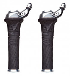 SRAM Paire de Grip Shift X0 2 x 10V Argent