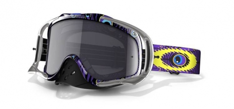 OAKLEY Masque CROWBAR MX TLD Discharge Violet w/Grey Ref 57-926