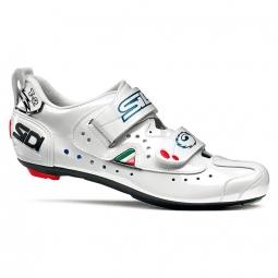 SIDI Paire de Chaussures Triathlon T2 CARBON Blanc