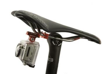 K-EDGE Support chariot de selle pour caméra GOPRO Rouge