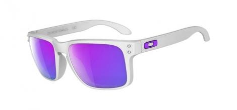 OAKLEY Paire de lunettes Holbrook Blanc w/Violet Iridium Réf OO9102-05