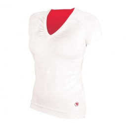 ENDURA Maillot manches courtes Femme SPORT Blanc Rose