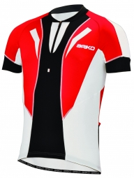 BRIKO Maillot manches courtes KRONO Rouge Noir Blanc