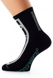 ASSOS Paire de chaussettes IntermediateSocks S7 Noir Volkanga