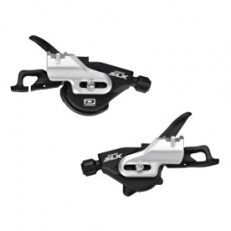 SHIMANO Paire de Shifter SLX M670 I-spec B 2 et 3 x 10V Fixation Directe Noir