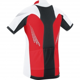 GORE BIKE WEAR Maillot Manches Courtes XENON 2.0 Rouge Blanc