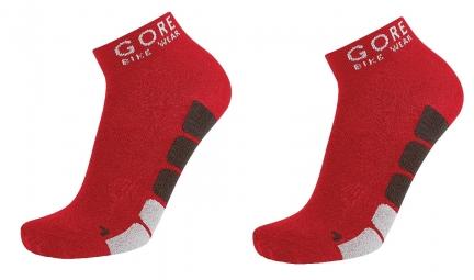 GORE BIKE WEAR POWER Lot de 3 Paires de chaussettes Rouge Noir