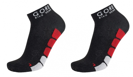 GORE BIKE WEAR POWER Lot de 3 Paires de chaussettes Noir Rouge
