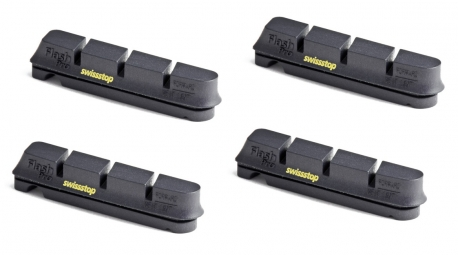 SWISSSTOP 2 Paires de patins FLASH PRO BLACK PRINCE Jantes Carbone Shimano/Sram