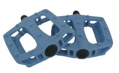 BLB Paire de Pédales plates T-Rex Bleu