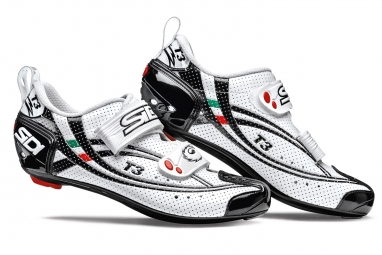 SIDI Paire de Chaussures Triathlon T3 AIR CARBON Blanc Noir