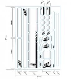 Y2 kit de 28 éléments de protection BUBBLE