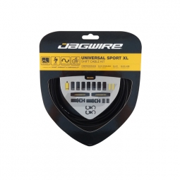 JAGWIRE Kit de câbles et gaines pour dérailleurs UNIVERSAL SPORT SHIFT Noir