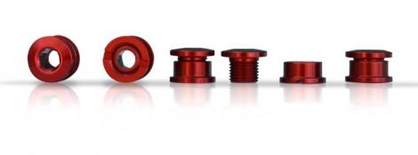 ICE Set de 5 vis cheminée R-BOLT 6.5mm Rouge
