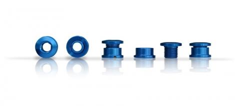 ICE Kit de 5 vis cheminée R-BOLT 6.5 mm Bleu