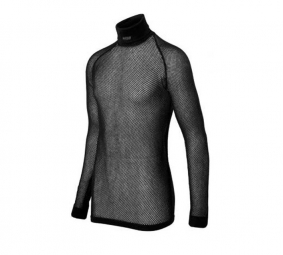 BRYNJE Maillot Manches Longues Col Montant Thermo Noir
