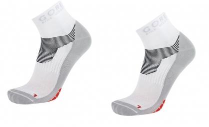 GORE BIKE WEAR Lot de 3 paires de chaussettes XENON Blanc Rouge