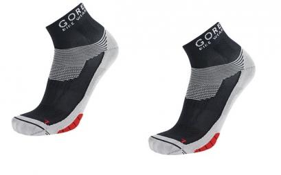GORE BIKE WEAR Lot de 3 paires de chaussettes XENON Noir Rouge