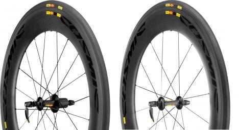MAVIC 2015 Paire de roues COSMIC CXR80 + boyaux Yksion CXR
