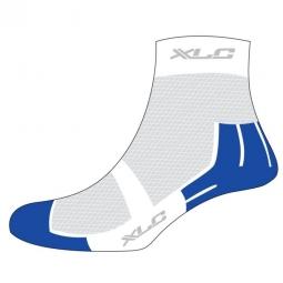XLC Paire de Chaussettes COOLMAX CS-C02 Blanc Bleu