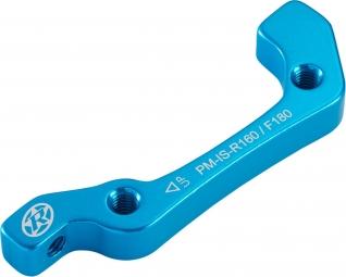 REVERSE Adaptateur Frein IS - PM AV 180mm/AR 160mm Bleu anodisé