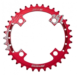REVERSE Plateau Race SL 4 Trous 104mm Rouge