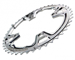 Race Face Plateau Team silver 44 dents entraxe 104 / 4 branches