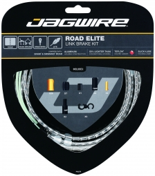 JAGWIRE Kit Complet Câbles Gaines ROAD ELITE LINK Freins Argent