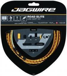 JAGWIRE Kit Complet Câbles Gaines ROAD ELITE LINK Dérailleurs Or