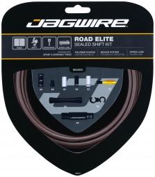 JAGWIRE Kit Complet Câbles Gaines ROAD ELITE SEALED Dérailleurs Marron