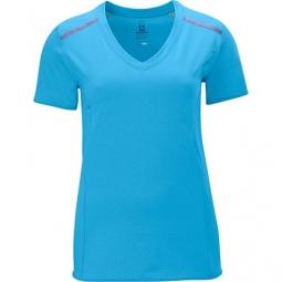SALOMON T-Shirt PARK SCORE Femme Bleu